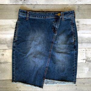 Kut from the Kloth | May Denim Asymmetrical Skirt